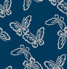 Japanese Indigo Butterfly Pattern