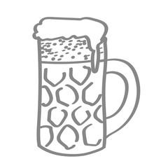 Hangezeichneter Bierkrug in grau
