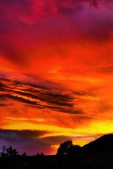 Wall Murals Red New Mexico Sunset Vertical