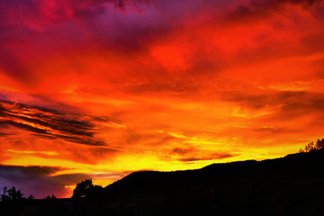 Foto op Plexiglas Rood New Mexico Sunset
