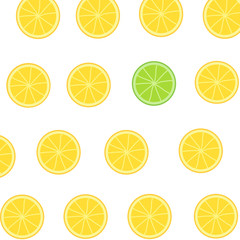 seamless background with slices of lemon