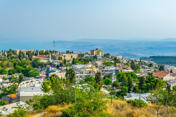 Fototapete - Aerial view of Tsfat/Safed in Israel