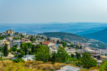 Wall Mural - Aerial view of Tsfat/Safed in Israel
