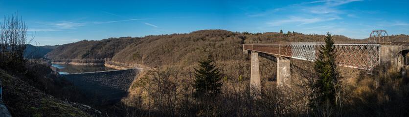 vue panoramique du viaduc des Fades