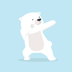 Cute polar Bear dabbing movement