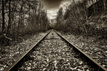 voie ferrée en direction du viaduc des Fades