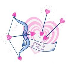 Love arrow and cupid's bow