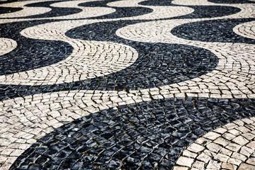Background - paving stones symbolizing waves