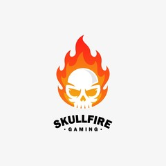 Fire skull Design illustration vector template