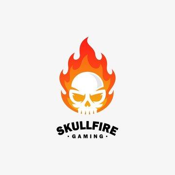 Fire skull Design illustration vector template