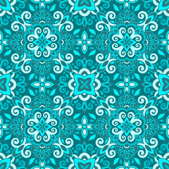 Azulejos Tile Vector Seamless Pattern