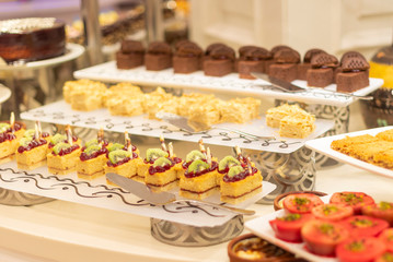 desserts at the buffet