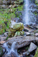 Mallyan Spout waterfall in Goathland in the North York Moors