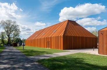 modern rusty barn
