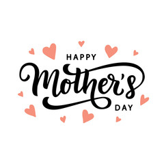 Happy Mothers Day typography poster