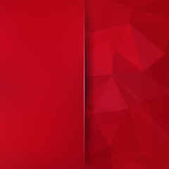 Abstract polygonal vector background. Red geometric vector illustration. Creative design template. Abstract vector background for use in design