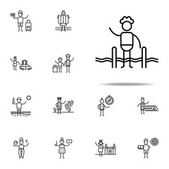 Swimer, swimming pool icon. Travel icons universal set for web and mobile