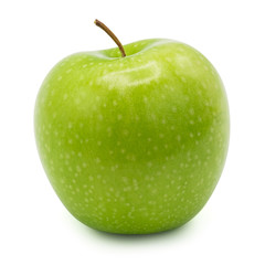 green apple isolated on white background with clipping path.