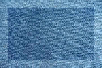 Blue denim fabric texture poster background material