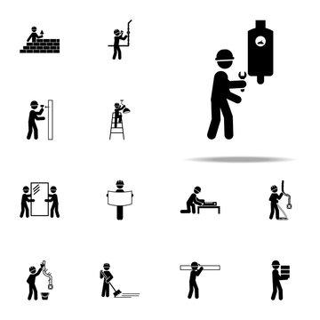 electrical, fixing worker icon. Construction People icons universal set for web and mobile