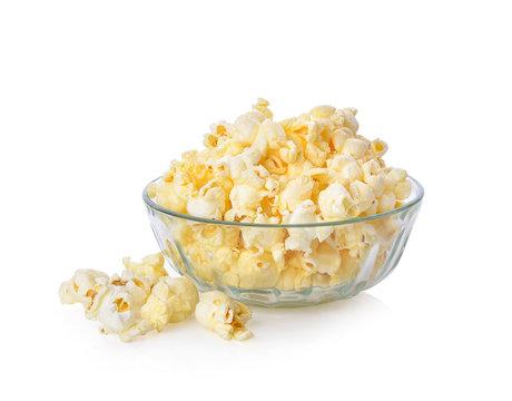pop corn on white background