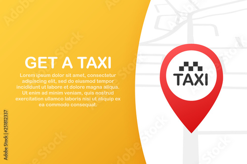Get a taxi  Taxi banner  Online mobile application order