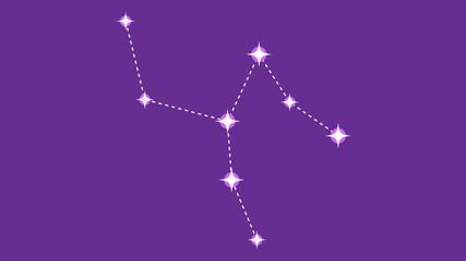 Camelopardalis constellation vector design