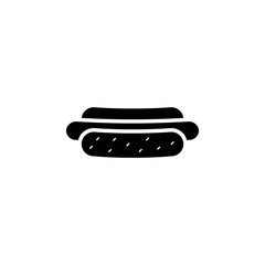 hot dog, fast food, sausage icon. Element of bakery and desert isolated icon. Premium quality graphic design icon. Signs and symbols collection icon for websites, web design