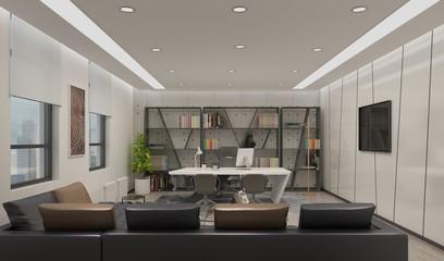 3d render modern office