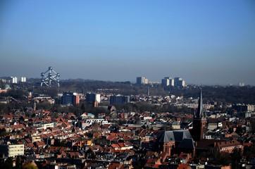 Bruxelles : Panorama sur la ville du haut de la Basilique de Koekelberg (Belgique)