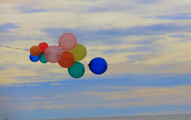 multicolor group of balloon