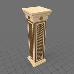 Ornate square column