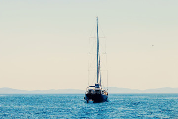 Sailing Ship yachts, Yachting, travel and active lifestyle concept