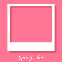 Photo frame with trendy color in spring