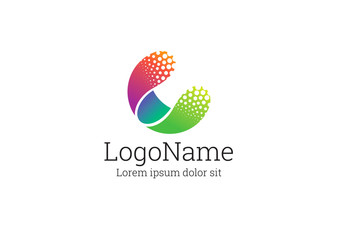 Multicolored Round Logo Layout
