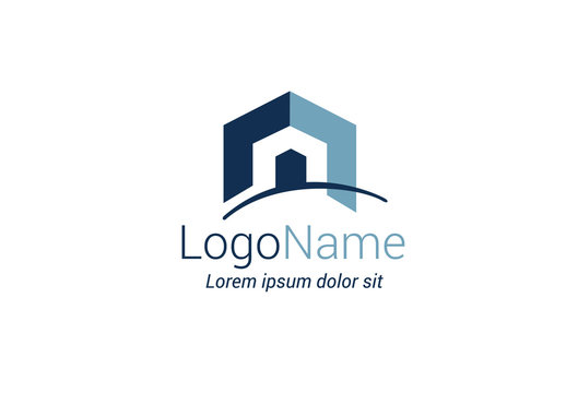 Geometric House Logo Layout