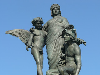 statue of Mercury, of Munificence and of the God of Commerce
