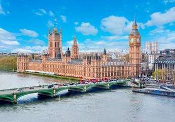 Keuken foto achterwand London Houses of Parliament and Big Ben, London, UK