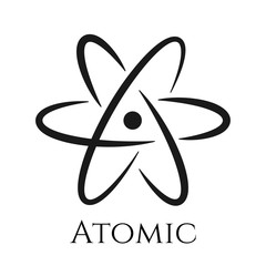 Atom sign icon. Science symbol isolated for design