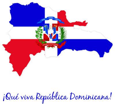 Mapa Republica Dominicana Bandera
