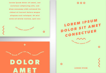 Eight Light Green and Orange Social Media Post Layouts