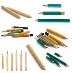 Set of Short Pencils on Isolated Background