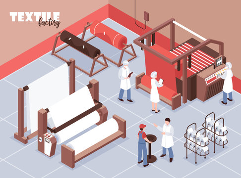 Textile Factory Illustration