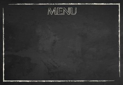 Chalkboard Food Menu