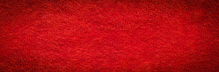Red synthetic fur texture for the background