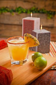 Pineapple margarita on the rocks
