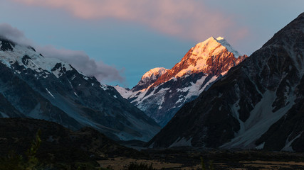 Sunset on Mount Cook, New Zealand