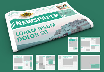 Green Newspaper Layout