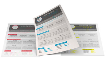 Resume Layout in Three Colors