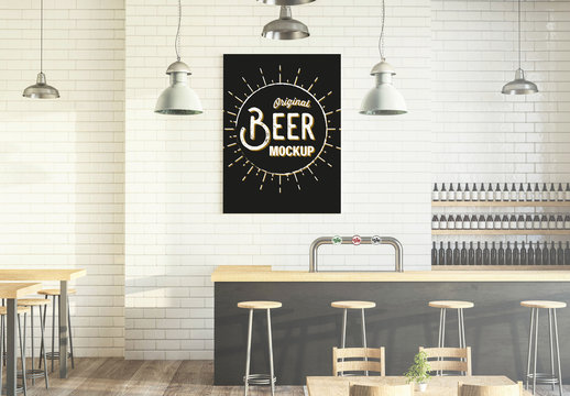 Beer Bar with Tap Mockup